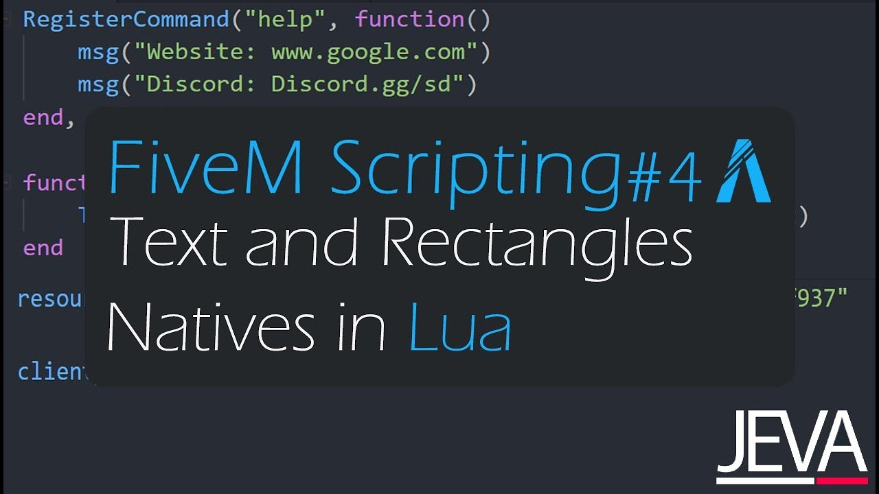 FiveM Scripting 4 - Text and Rectangles Natives