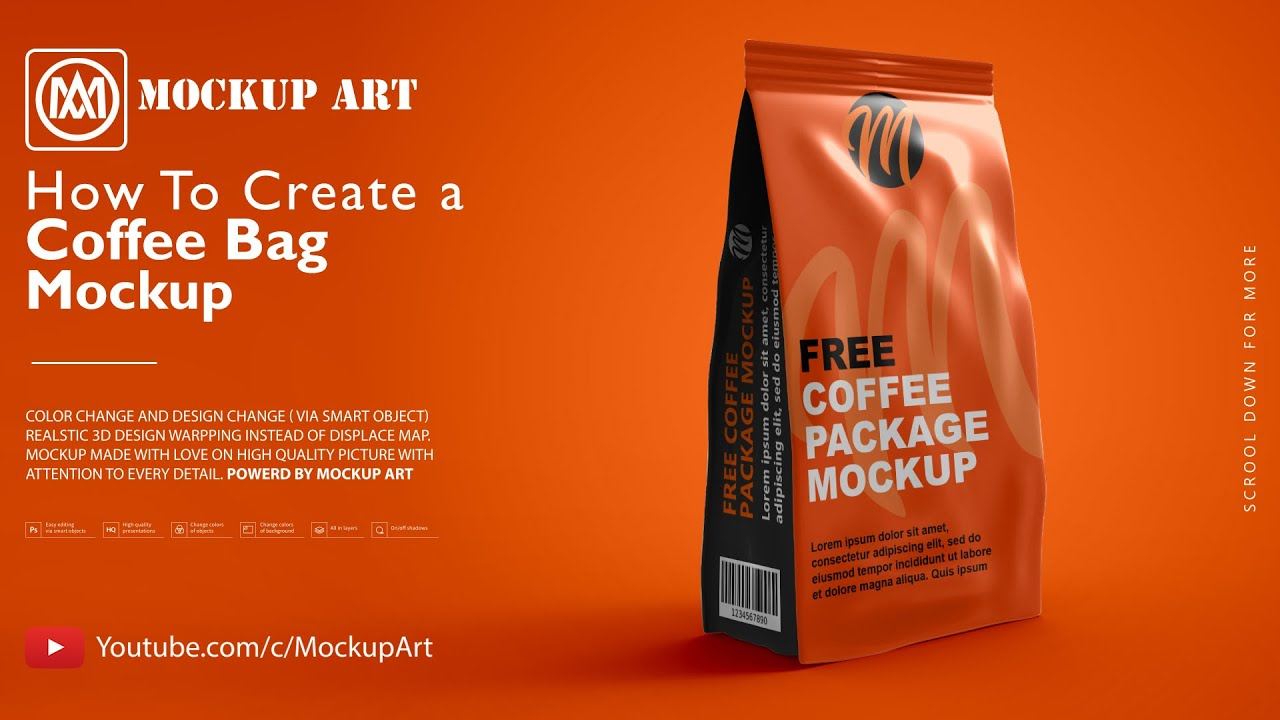 Just $8.33 / month, save 58%. How To Make A Coffee Packaging Mockup Photoshop Mockup Tutorial Youtube