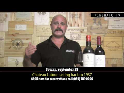 Chateau Latour tasting back to 1937 - click image for video
