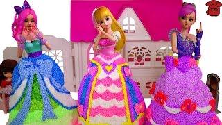 ★토이구마★치링치링~시크릿쥬쥬 풍선클레이~★DIY How to Make Balloon Dress Form Clay