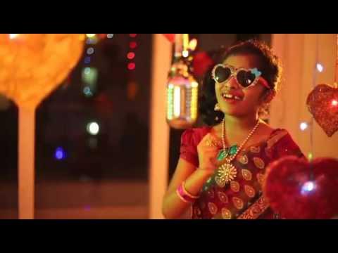 Little Indian girl singing