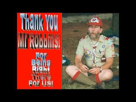 BSA Tribute To Mr Robbins, T95 Scoutmaster