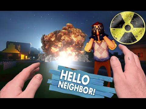 Realistic Minecraft Steve: Hello Neighbor -  Secret Hidden Nuke under Neighbors house