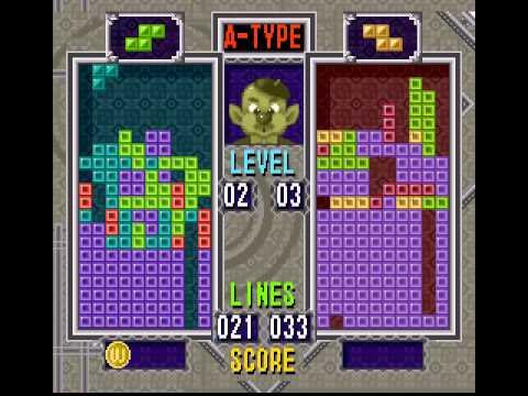 Tetris & Dr Mario (SNES) Me VS CPU (HARD)