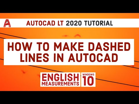 How To Make Dashed Lines In Autocad | Autocad LT 2020 Tutorial