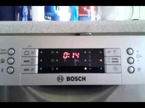 dishwasher bosch sms69m58eu full cycle turbospeed 20min youtube rh youtube com Bosch Dishwasher Manual PDF Bosch Dishwasher She44c05uc Repair Manual