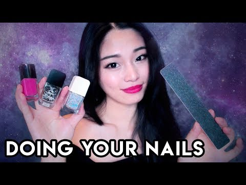 [ASMR] Doing YOUR Nails (Manicure Roleplay)