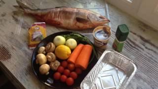 Горбуша запеченная с овощами диетический рецепт