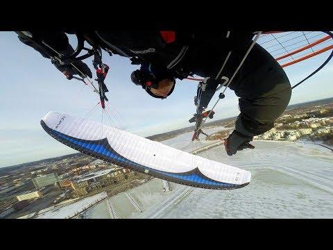 GIN Carve  freestyle / slalom  paramotor wing test flight