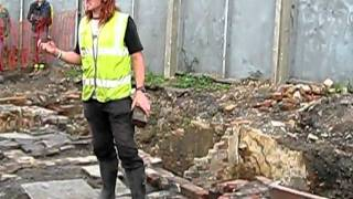 Part 5 - Angel Street Excavation in Manchester by Oxford Archaeology North - 10/10/09