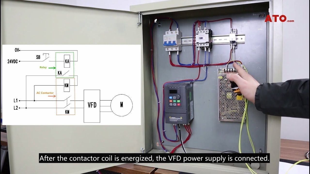 how to control vfd with push button switch terminal control wire control [ 1280 x 720 Pixel ]