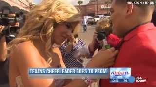 Twitter proposal brings NFL cheerleader to prom