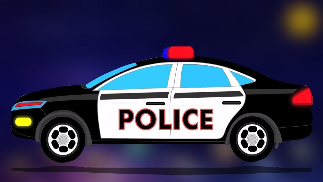 What Rhymes With Car >> Macchina della polizia lavare   Fumetto per i capretti ...
