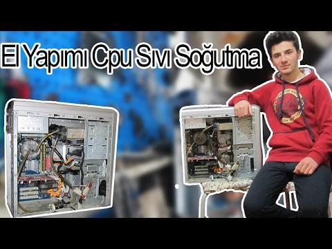 Eski Bir Sistem Pc'ye  Cpu Sıvı Soğutma Yaptım ,Çalıştıı !!/  Handmade Cpu liquid cooling