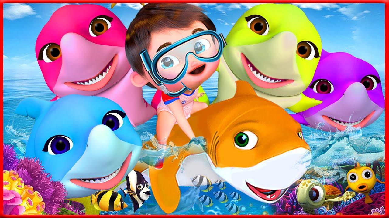 Baby Shark Song , Wheels on the bus   Banana Cartoon - After School Club - Kids Cartoons