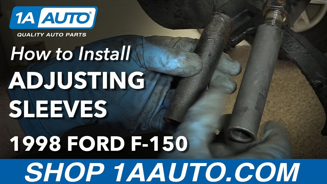 How To Replace Front Tie Rod Adjusting Sleeves 97 03 Ford F 150 Youtube