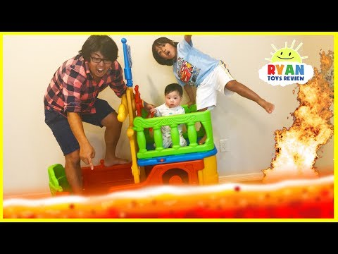 Thumbnail: THE FLOOR IS LAVA CHALLENGE! Ryan ToysReview Family Fun Kids Pretend Playtime