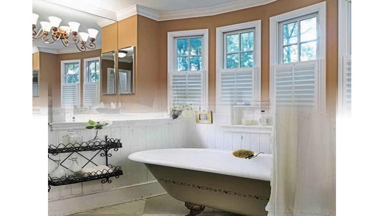 Diseño de la cortina de la ventana del cuarto de baño - YouTube