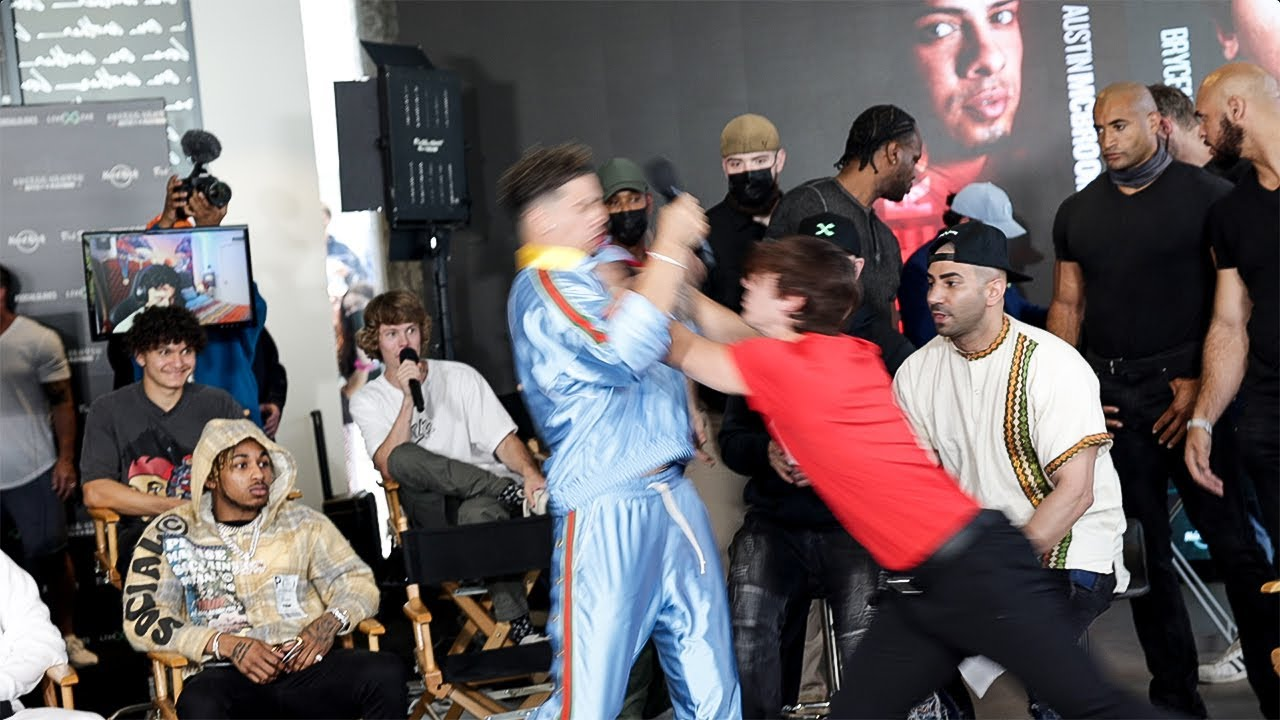 Download BRYCE HALL & AUSTIN MCBROOM FIGHT AT the BOXING PRESS CONFERENCE│I SAVED A LADY...