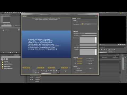 How to Capture Footage In Adobe Premiere cs5 Mini DV/Tape Deck Tutorial