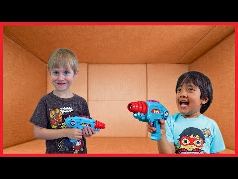 I MAILED MYSELF to Ryan ToysReview for Laser Tag Blasters AND IT WORKED! Combo Panda Found! (Skit)