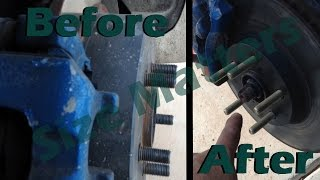 Installing Extended Wheel Studs Scion Tc