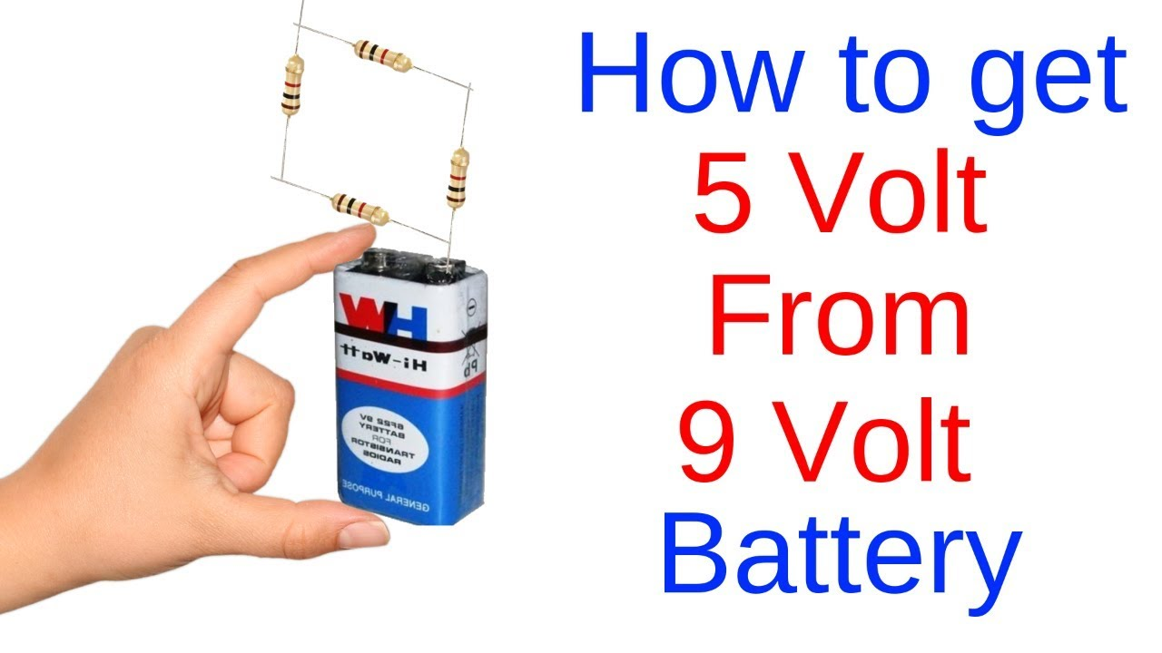 How To Get 5 Volts From A 9 Volt Battery Youtube