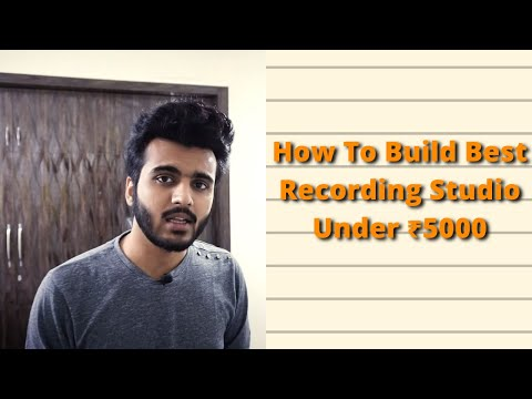 Home Studio Setup For Beginners Under ₹5000 (2020-21)