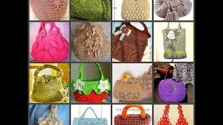 подборка вязаных сумок со схемами