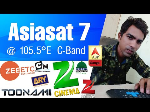 Asiasat 7 at 105.5°E New Channel List of 27 April 2019
