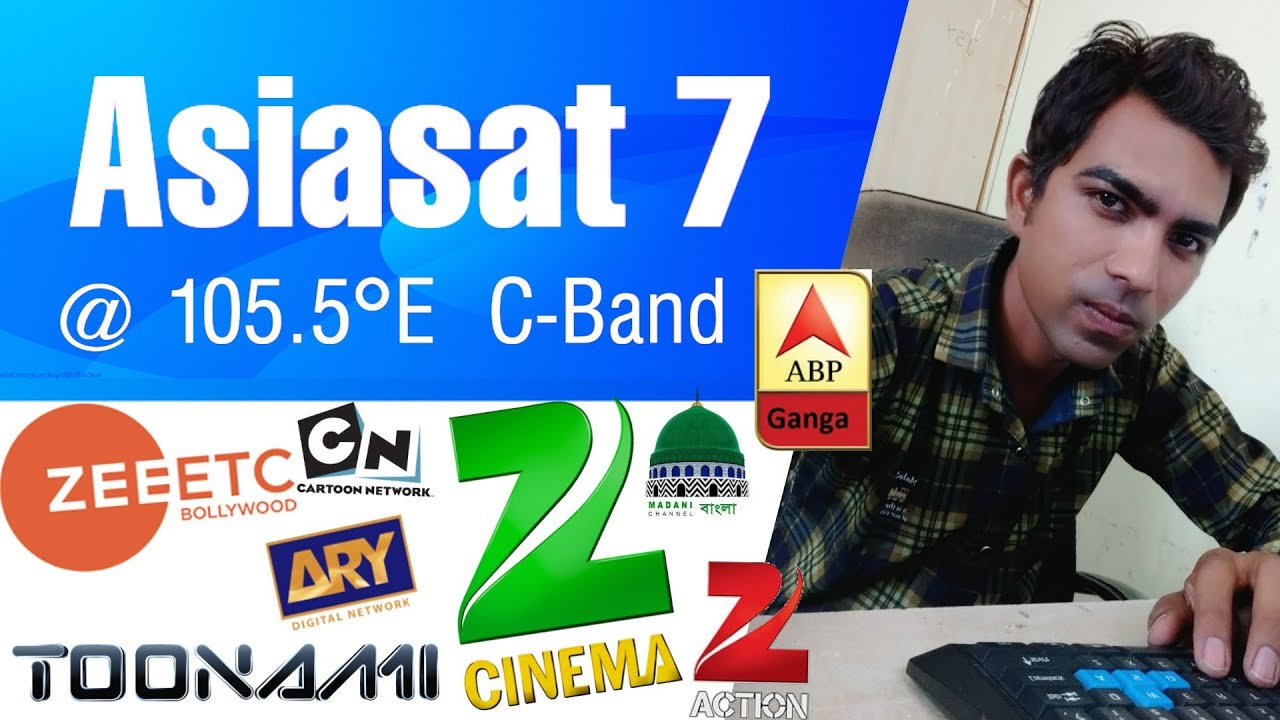 Asiasat 7 at 105 5°E New Channel List of 27 April 2019