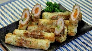 How to make Stuffed Fried Chikuwa