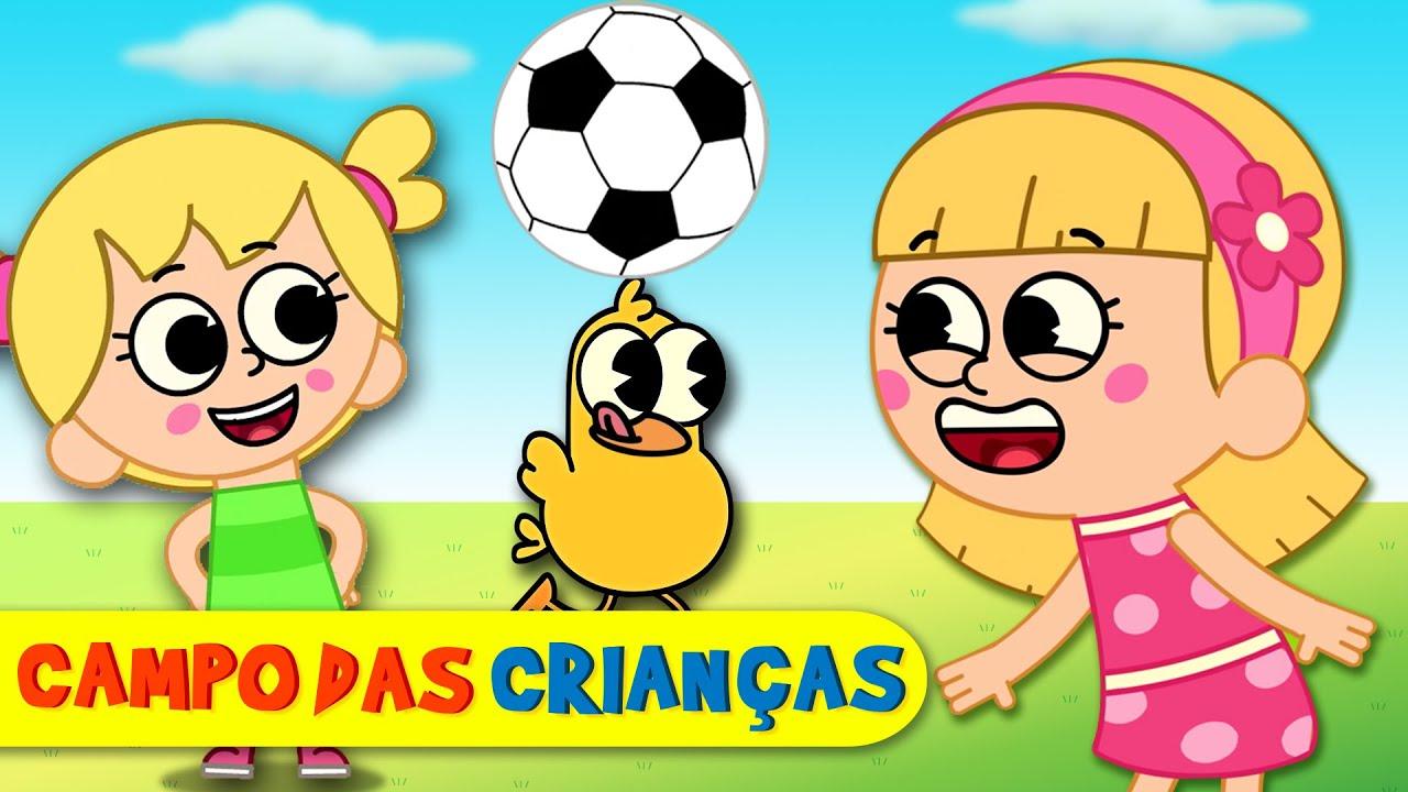 ⚽️ É bom jogar | Vamos futebol com ELLI E EVA⚽️  | Músicas para crianças Campo das Crianças