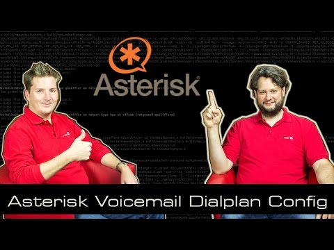 Asterisk Tutorial 17 - Voicemail Dialplan Config [english]