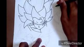 Speee Drawing Goku ssj3 blue