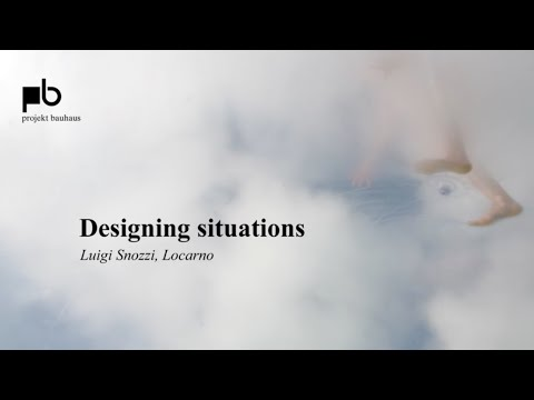 Can design change society? – Luigi Snozzi: The critical agent