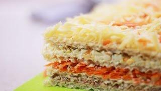РЕЦЕПТ ░ Вкуснейший закусочный вафельный торт!