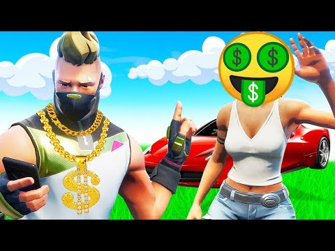 Catching A REAL Gold Digger In Fortnite