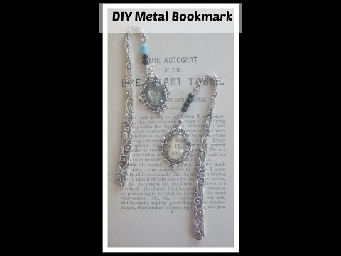 How To Make A Beaded Metal Bookmark / Easy And Fun Bookmarks To Make