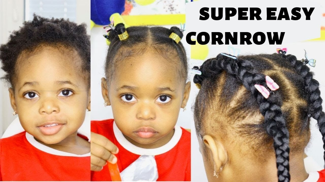 You Cant Cornrow On Short Hair Try This Method Hairstyles For Kids Braids For Kids Youtube