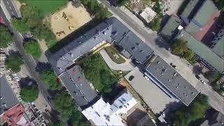 Zamojska Od Nowa - Lublin ul. Zamojska 8 z lotu ptaka (w zasadzie to drona)