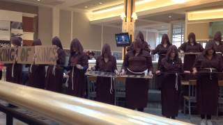 Orange HS Choirs Hallelujah Flash Mob with Monks and a Nun