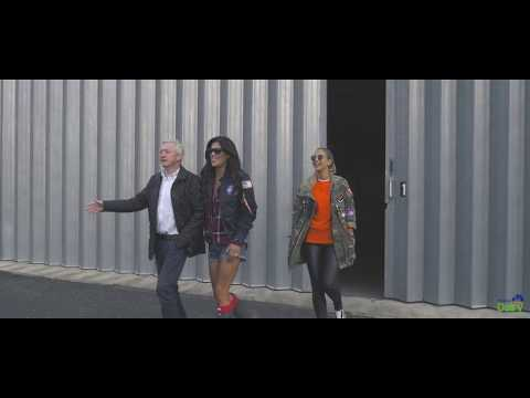Louis Walsh, Vogue Williams and Glenda Gilson at Ploughing Championships 2017 with the NDC