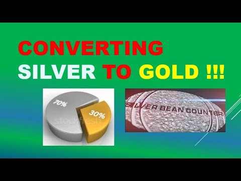 Gold to Silver Ratio - Part 2.  Selling silver to buy gold!  Tips on trading precious metals.
