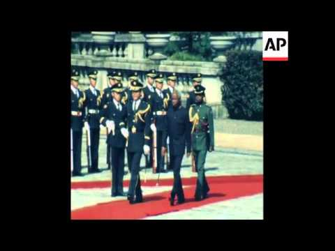 UNUSED 23 3 81 Julius Nyerere of Tanzania visits