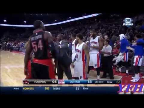 FULL Andre Drummond Hard Foul on James Johnson And Fight