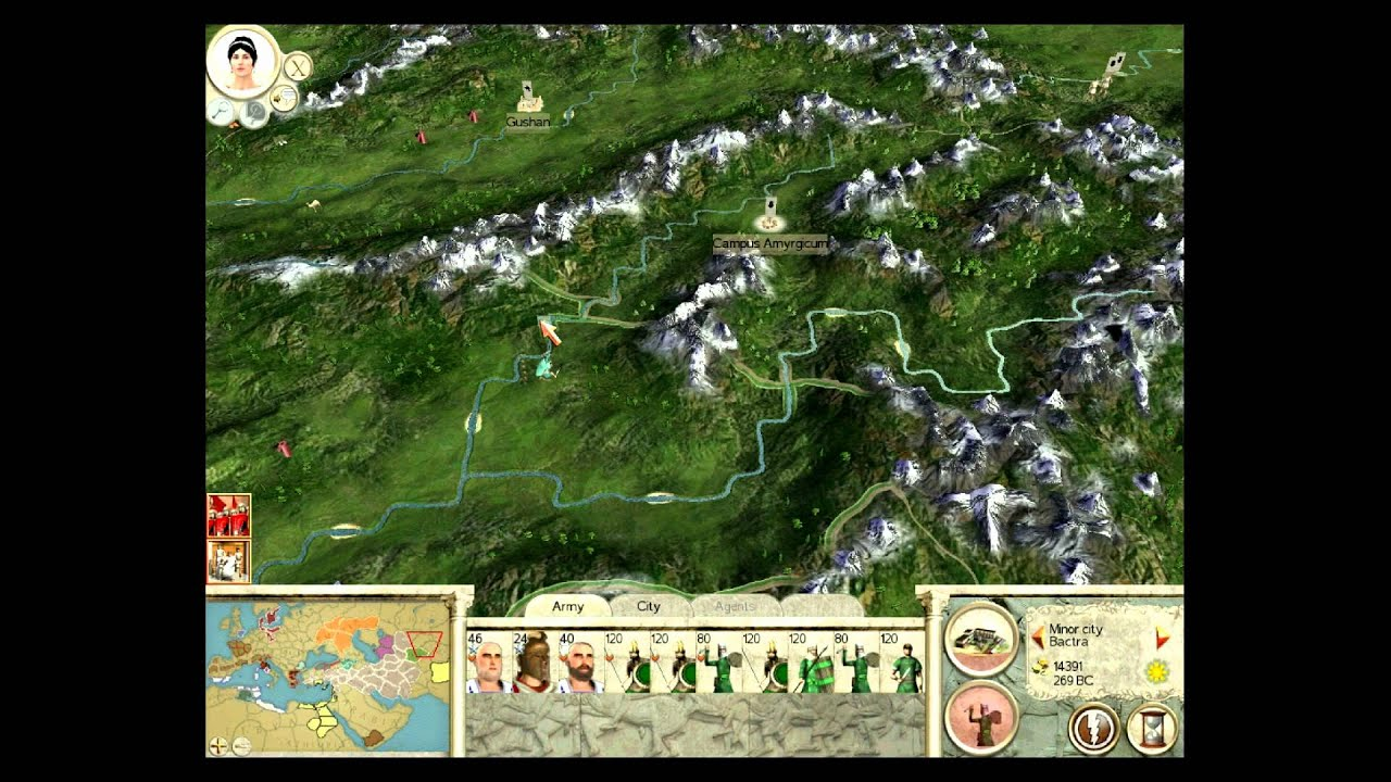 Lets Play Rome Total War BC Mod Part Restart HD YouTube - Rome total war map city locations
