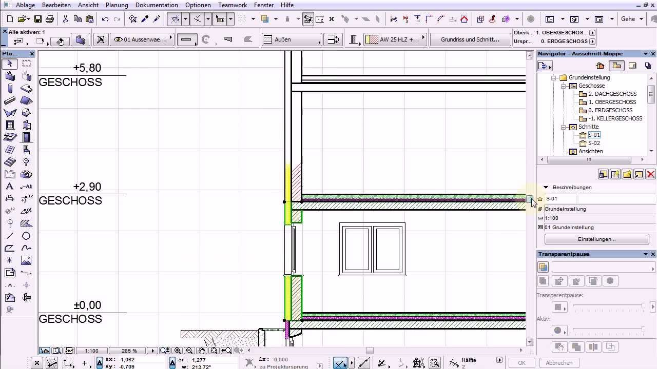how to make axonometric detail in archicad