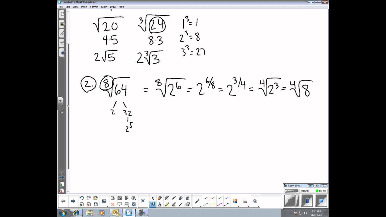MSTC Algebra 2: Section 8.3 - Simple Radical Form - YouTube