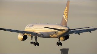 Winter Evening Arrivals at London Heathrow Airport, LHR | 08-01-19